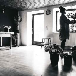 Einblick in die Werkstatt von Ganz Unverblümt in Steinach bei Straubing