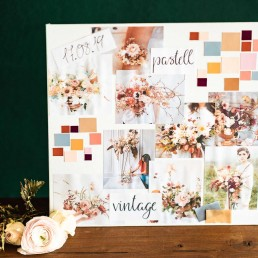 Individuelles Moodboard als Hochzeitskonzept bei Ganz Unverblümt Straubing