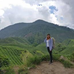 Franzi von Ganz Unverblümt in den Bergen von Malaysia
