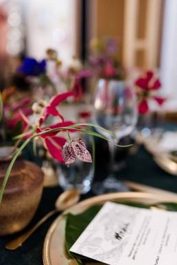 Detailaufnahme Schachbrettblume im Boho Exotic Tischschmuck von Ganz Unverblümt Deggendorf