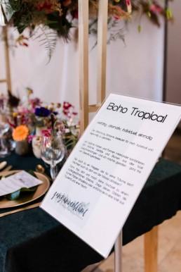 Boho Tropical Erklärung Blumenschmuck Hochzeit vom Floristmeisterin Franzi Straubing