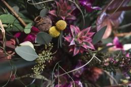 Detailaufnahme Boho Tropical Brautstrauß von Ganz Unverblümt Straubing