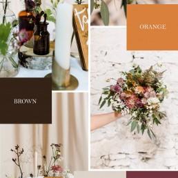 Hochzeitskonzept in Herbsttönen für Boho-Hochzeit von Ganz Unverblümt Steinach